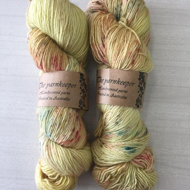 The Yarnkeeper 4ply singles -spun gold