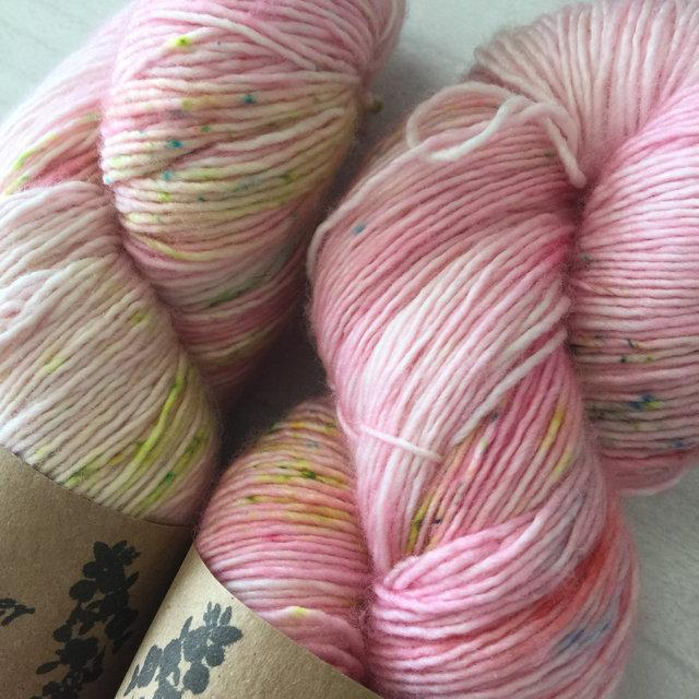 The Yarnkeeper 4ply singles -tickled pink