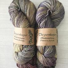 The Yarnkeeper 4ply singles -eggplant