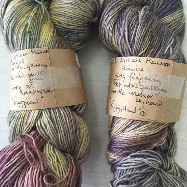 The Yarnkeeper 4ply singles -eggplant