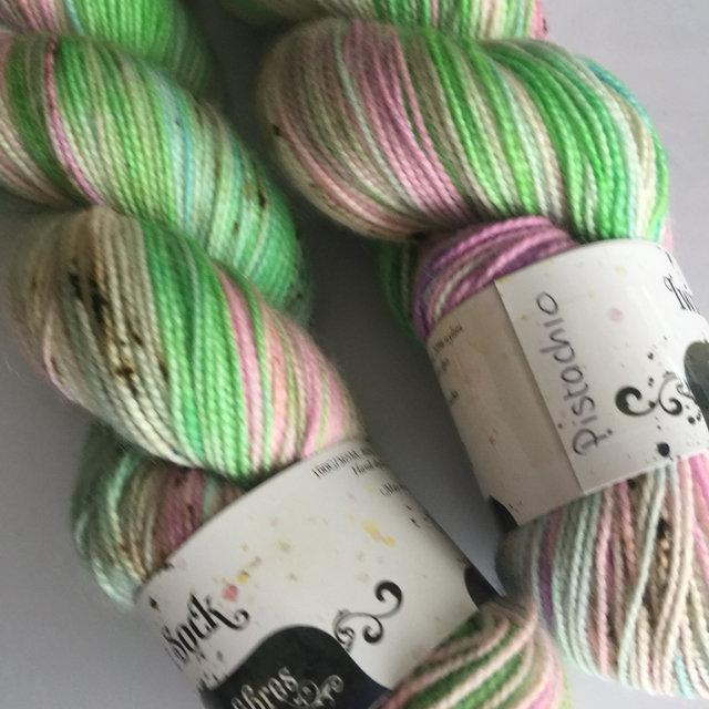Hedgehog Fibres Twist Sock - Pistachio