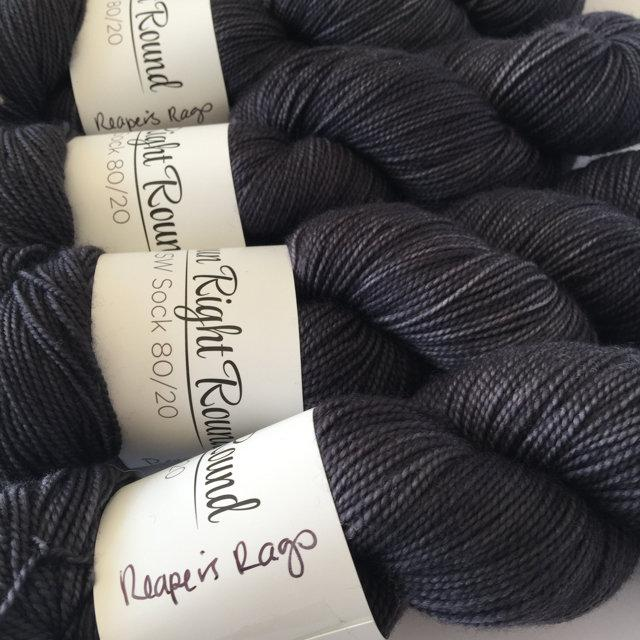 Spun Right Round SW Sock 80/20 - reapers rags