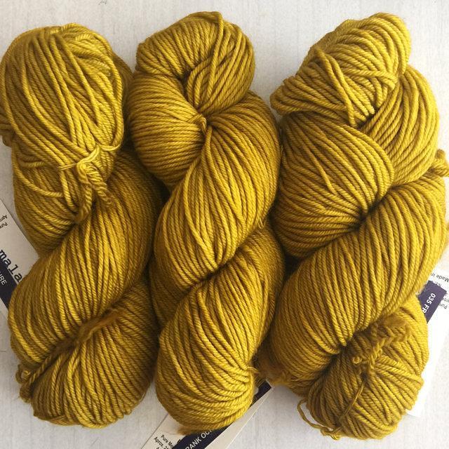 """Malabrigo Rios /""""Frank Ochre /"""" Superwash Merino Knitting Yarn Wool 100g 35"""