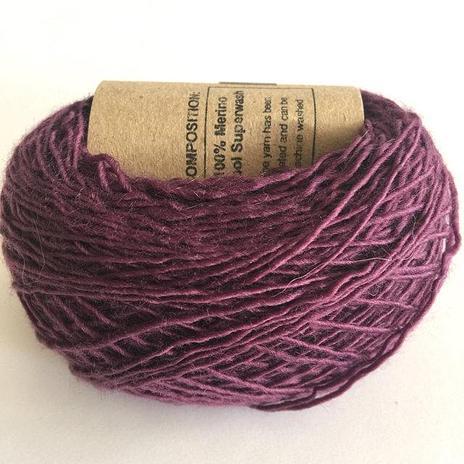 Adele's Mohair Skinny Wool - Aubergine
