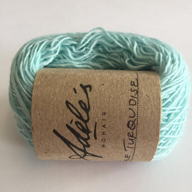 Adele's Mohair Skinny Wool - Pale Turquoise